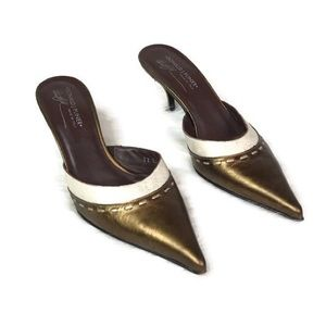 "Donald J Pliner ""Rona"" mules size 10 pointed toe"